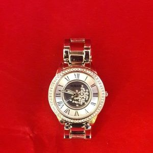 Style & Co Crystal Face Silver Watch